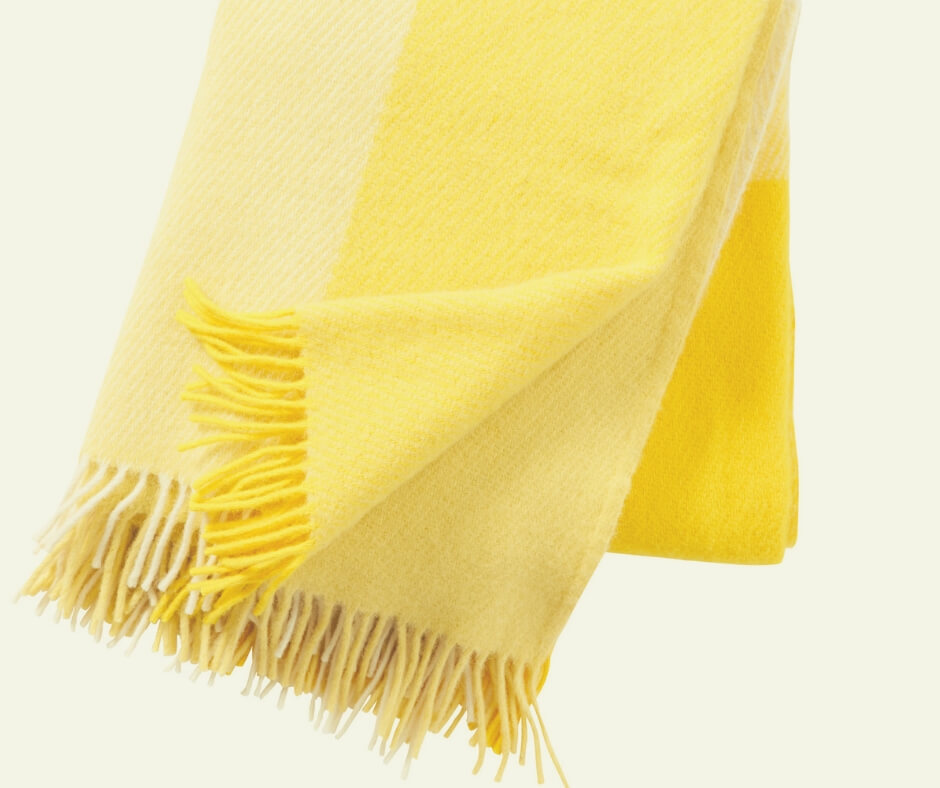 Christmas Gift Ideas For Your Mother In Law | A bright yellow blanket will keep her warm while brightening the dark nights.