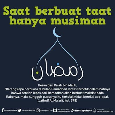Rajin Ibadah Hanya Bulan Ramadhan, Bulan Lain Tidak. RENUNGKAN INI!