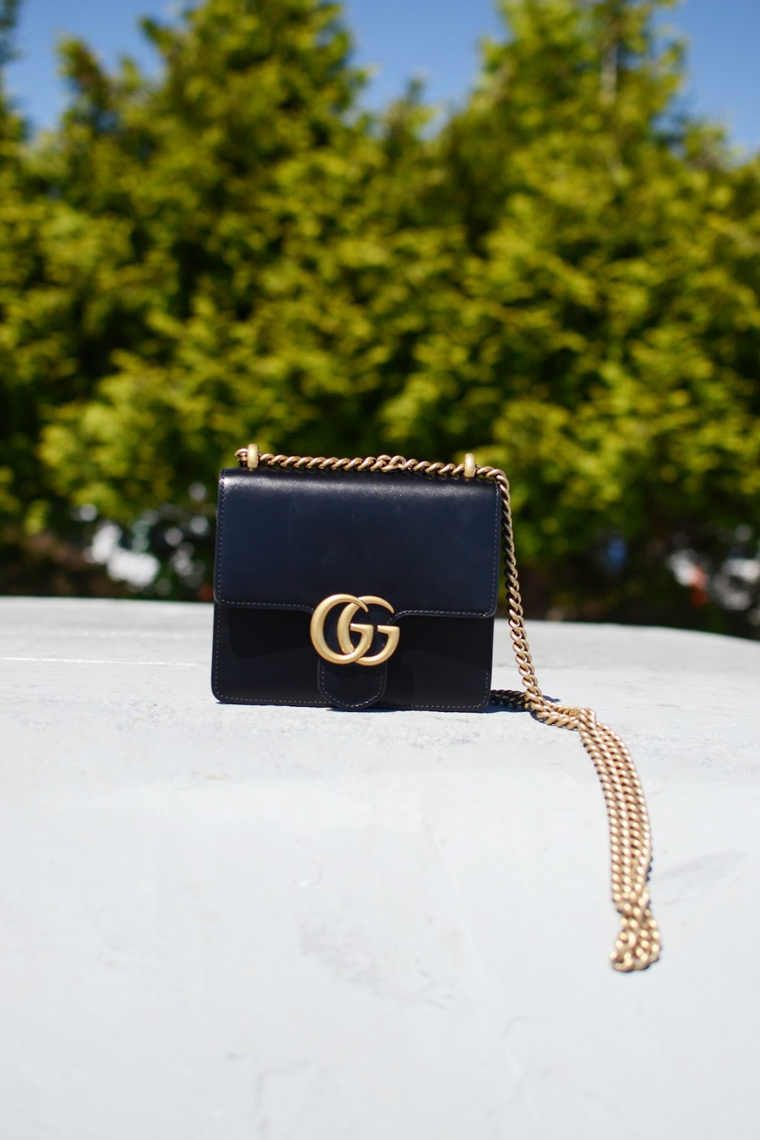 Gucci Marmont Shoulder bag blogger