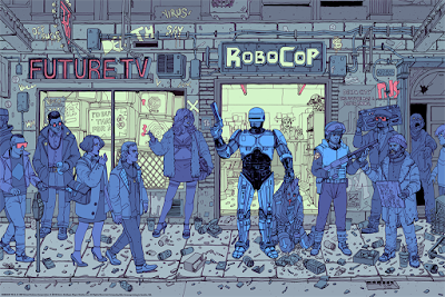 RoboCop Screen Print by Josan Gonzalez x Mondo