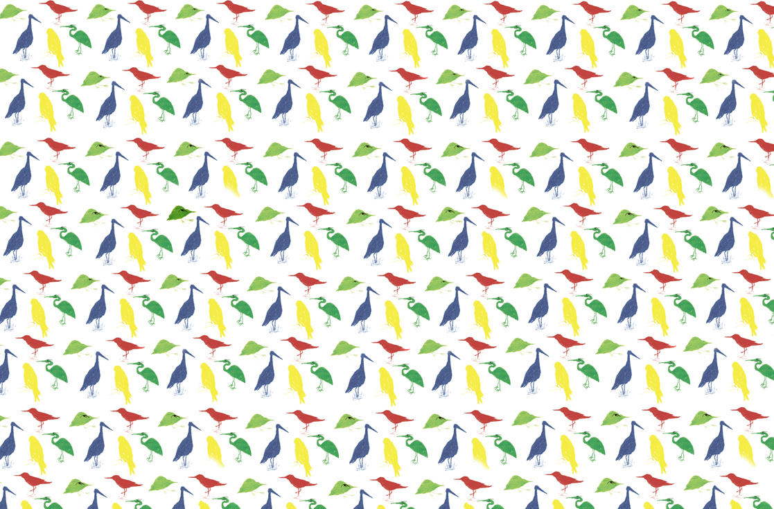 joanne young illustration bird pattern in a repeat