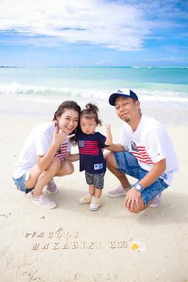 沖縄 家族写真撮影 海