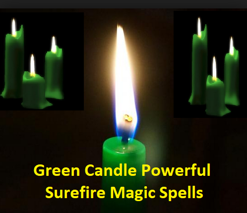 Green Candle Powerful Surefire Magic Spells for Desire and Interrupted Works