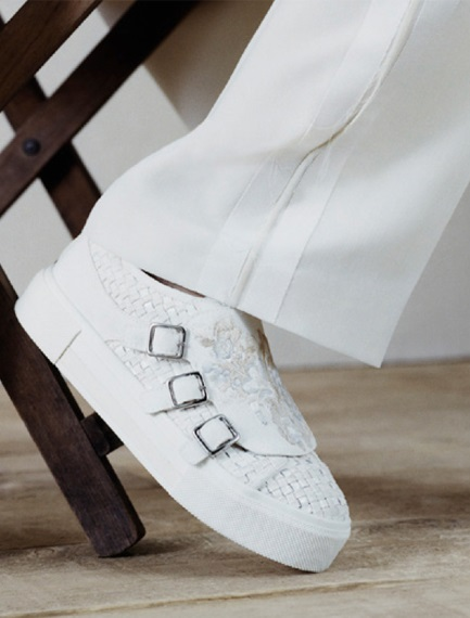white sneakers from Alexander McQueen