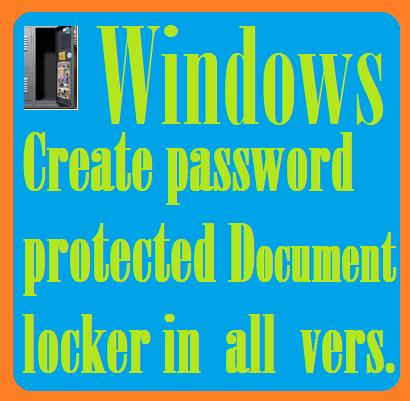 Password protected document locker