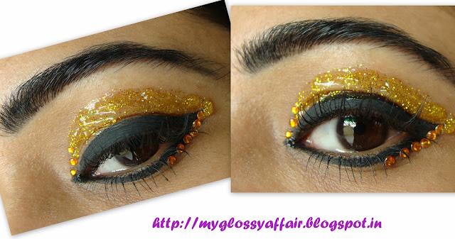 Festive Shimmery Yellow EOTD