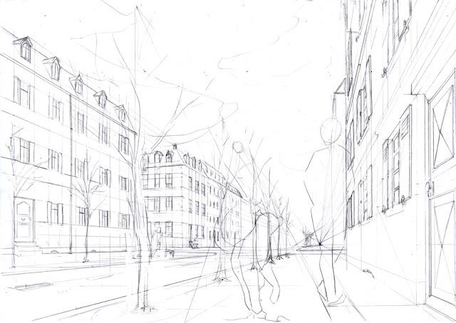 crayonné décors - dessin en perspective