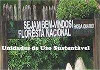 Tipos de Unidades de Conservação de Uso Sustentável.