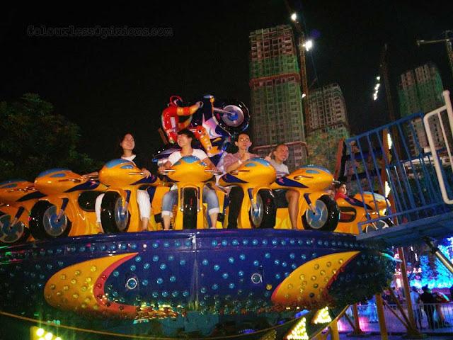 moto disco ride theme park i-city city of digital lights