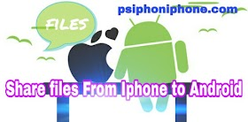 How to share files from android to ios device
