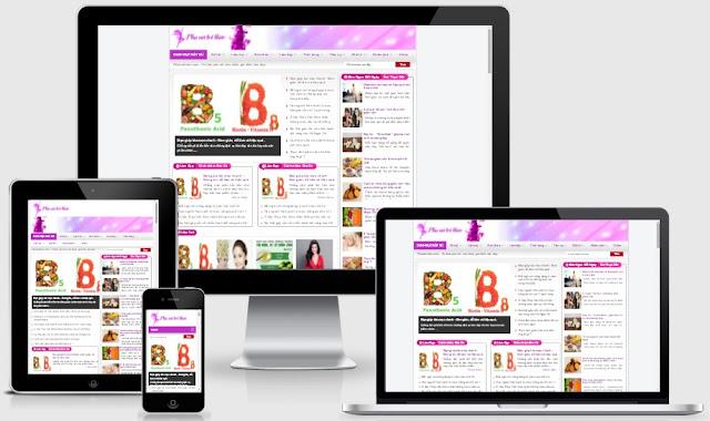 Template blogspot tin tức kiến thức phụ nữ