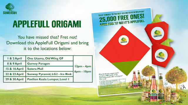 Somersby AppleFull Origami Event Locations