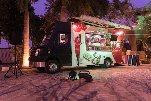 Spot the AirAsia India's food truck at BLR Food Truck + Music Festival