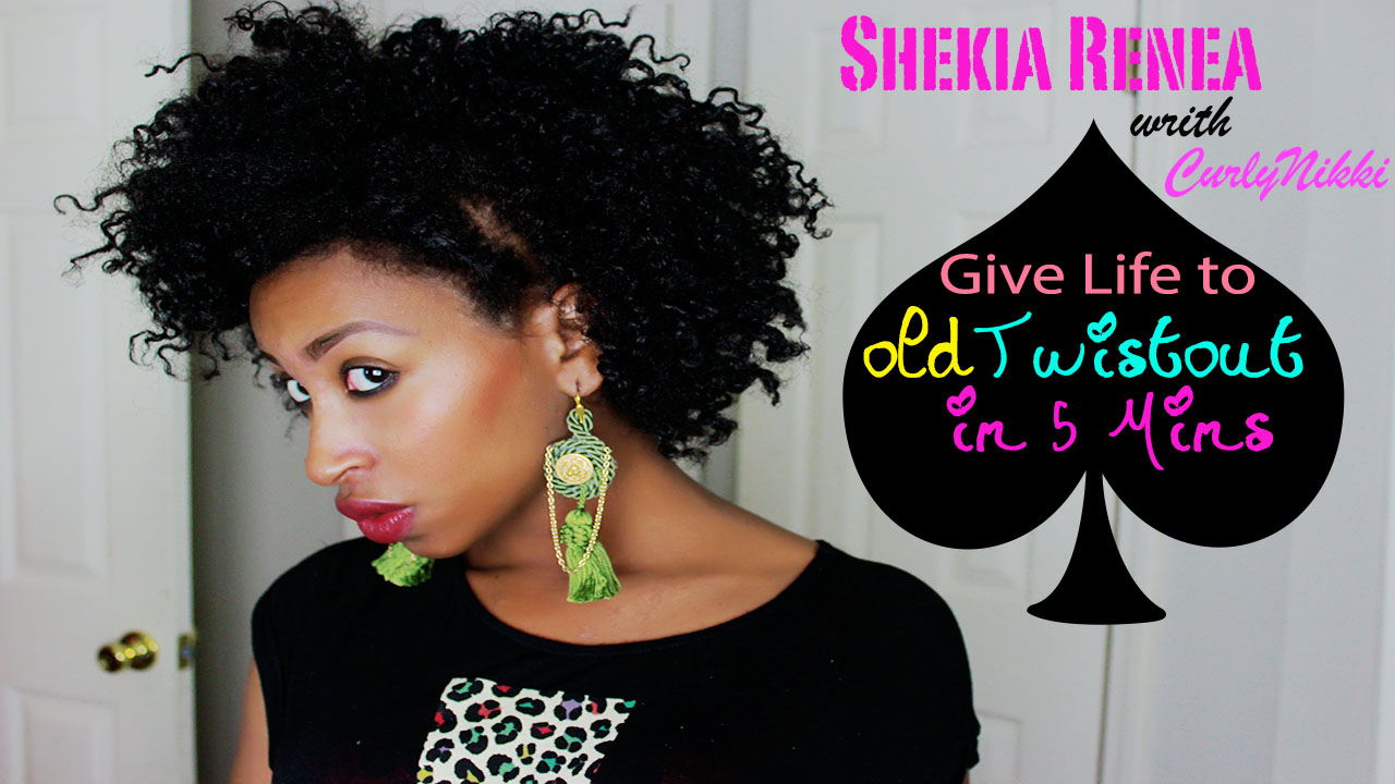 Refresh Your Old Twist Out In 5 Minutes Curlynikki Natural Hair