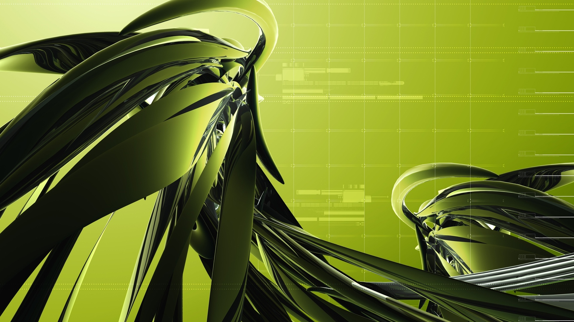 Dark Green Abstract Design - High Definition Wallpapers