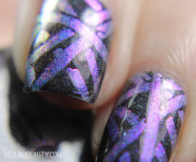 Great Lakes Lacquer ♥'s Supermoon Lacquer | DIY Decal Nail Art