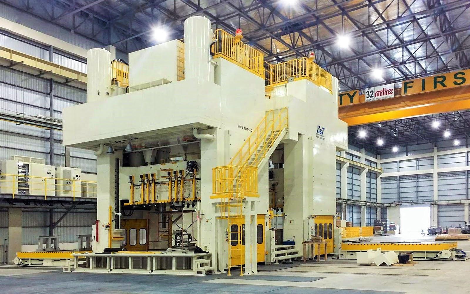 Mitsubishi Motors Philippines' 2,000 and 1,000-ton stamping machine