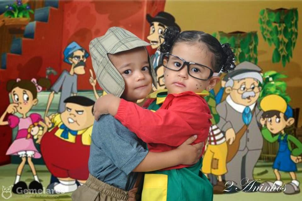 Festa de aniversário Chaves e Chiquinha para gêmeos » Gemelares