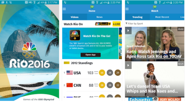 Download Olympics 2016 Official App For Android, iOS Phones