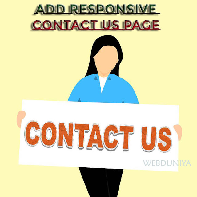 How To Add Responsive Stylish Contact Us Page On Blogger