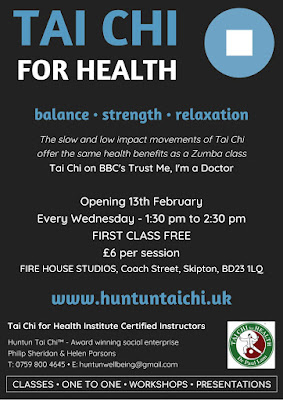 Poster for new Tai Chi for Health Class in Skipton
