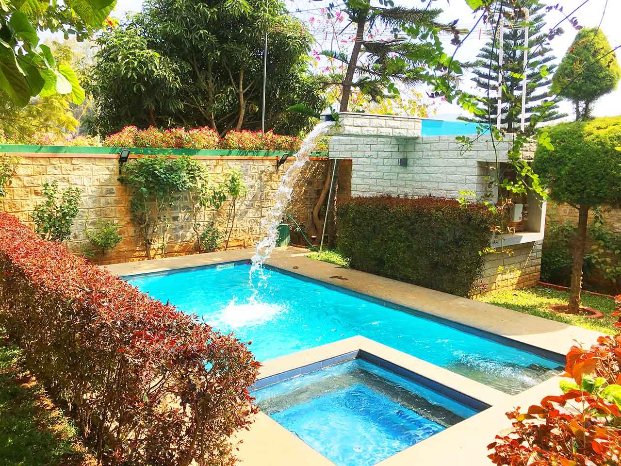 homestays with swimming pool in yelagiri hills