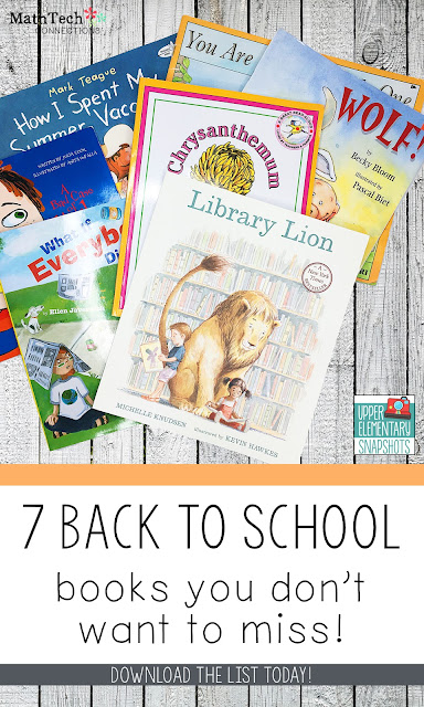 7 Back to School Read Alouds for the classroom
