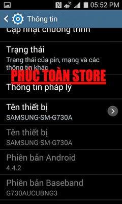 Tiếng Việt Samsung G730A alt