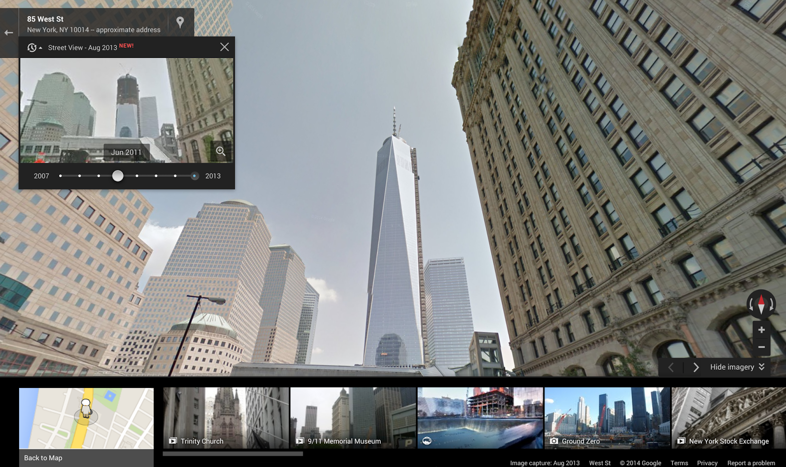 Official Google Blog Go back in time with Street View – View Street Map Google Earth