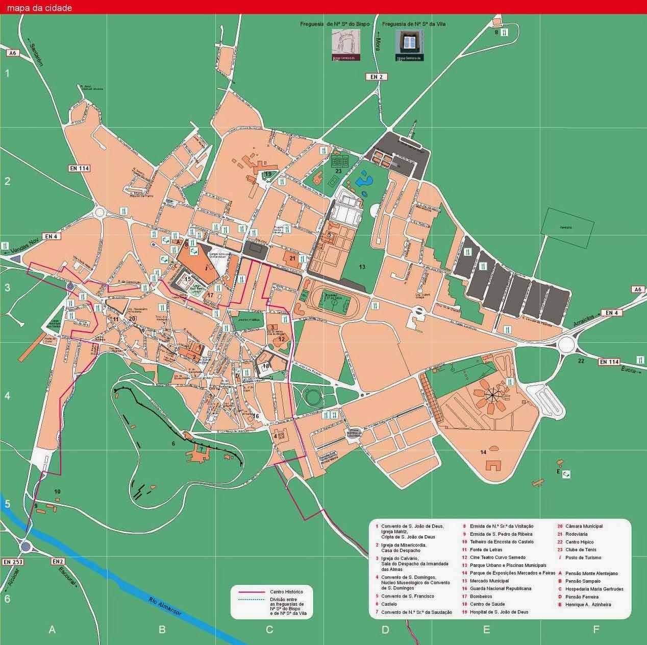 montemor o novo mapa Cabrela  Montemor o Novo: Mapa da cidade e do concelho de Montemor  montemor o novo mapa
