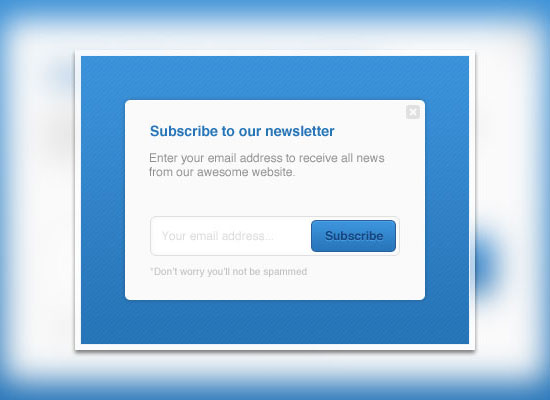 12 smart ways to get 1000 email subscribers for email for Pop up window design