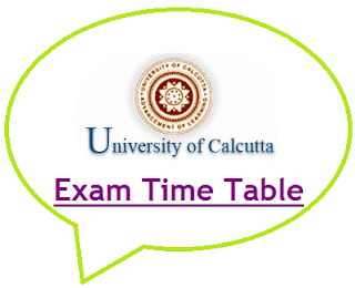 Calcutta University Exam Routine 2020