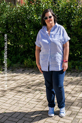Camisa asimétrica de rayas