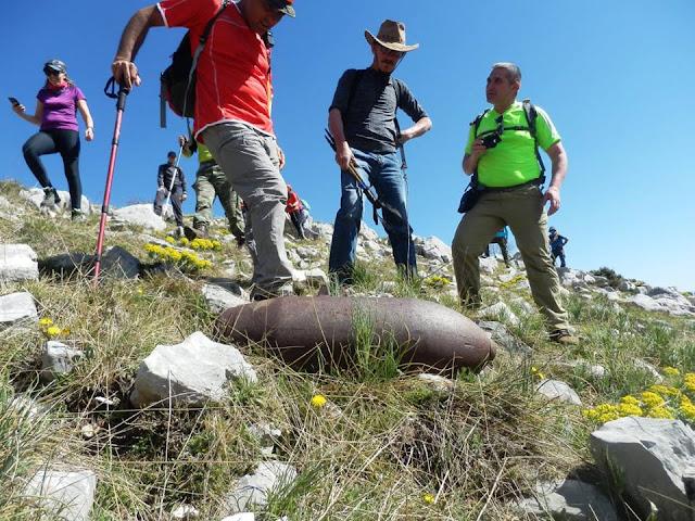 Επικίνδυνη οβίδα εντοπίστηκε κατά την εξόρμηση του Ορειβατικού Συλλόγου Ηγουμενίτσας στην Μουργκάνα (+ΦΩΤΟ)