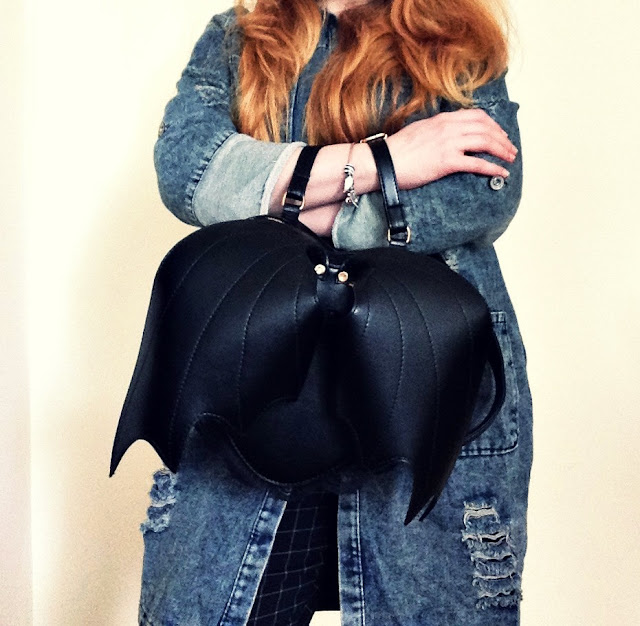 DENIM COAT&BAT BACKPACK