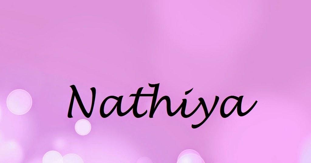nathiya name