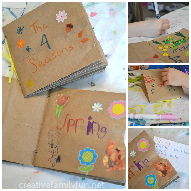 My Book of the Four Seasons: A Paper Bag Book Square