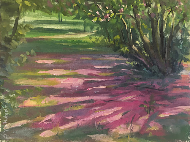 pleinairpainting, Blossoms, oilpainting