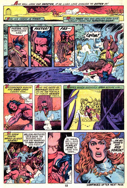Conan the Barbarian v1 #23 marvel comic book page art by Barry Windsor Smith