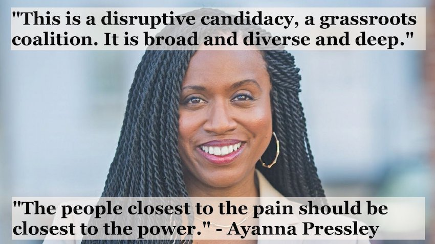 """The people closest to the pain should be closest to the power.""- Ayanna Pressley"
