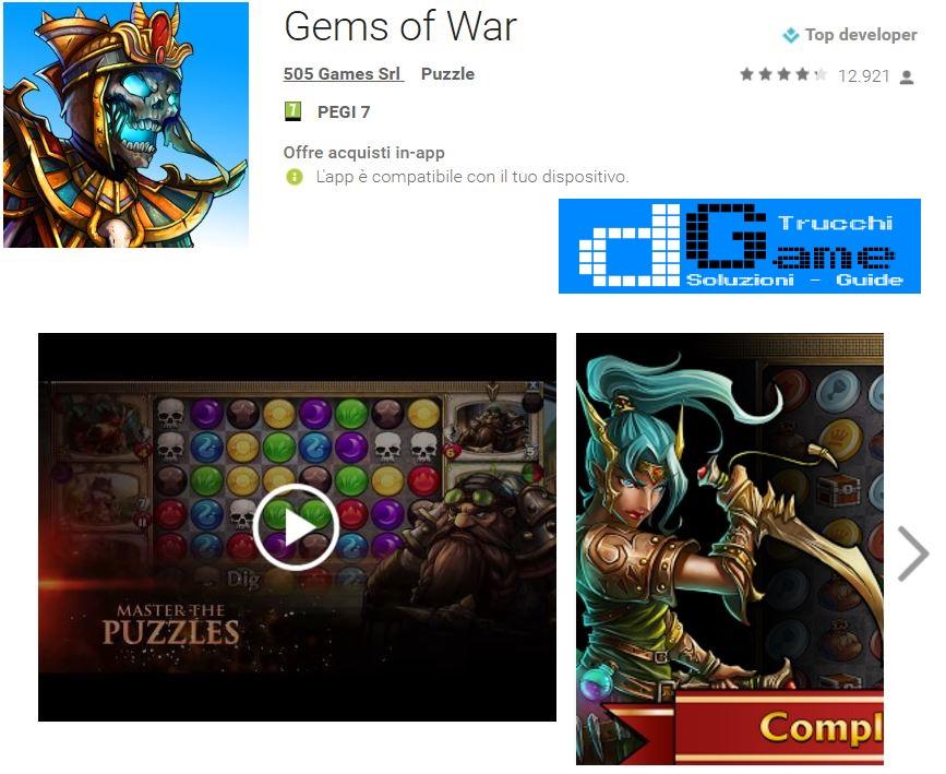 Trucchi Gems of War Mod Apk Android v4.0