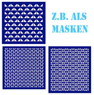 Schablonen, erstellt mit den Silhouette Designvorlagen