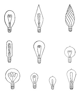 light bulb drawing artwork collage download illustrations