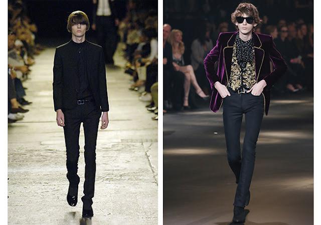 Diseños de Hedi Slimane para Dior Homme y Saint Laurent