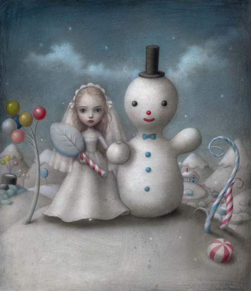 20-The-Snow-Bride-Nicoletta-Ceccoli-Surreal-Fairy-Tales-NOT-for-Children-www-designstack-co
