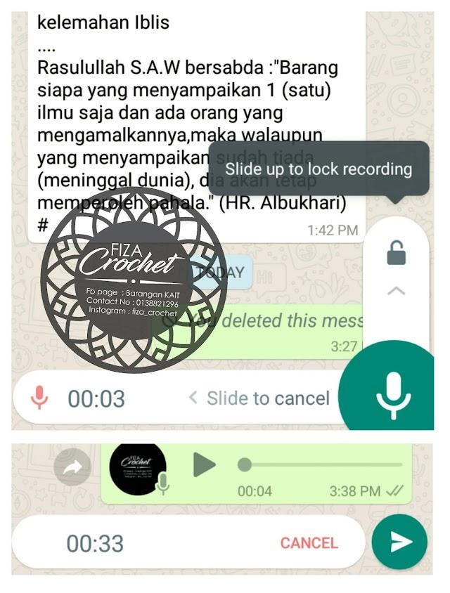 Perkenalkan ciri terbaru voice note di whatsapp
