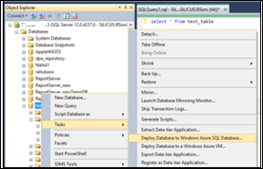 Migrating on-premise SQL Database to Windows Azure SQL Database