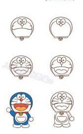 cara menggambar Doraemon