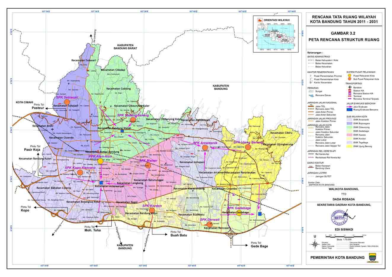 Peta Kota: Peta Kota Bandung