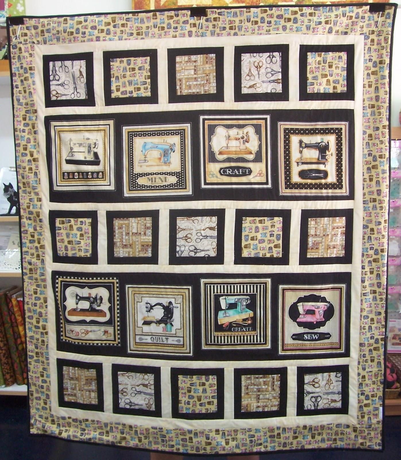 Cynthia's Creating Ark: Vintage Sew Machine Quilt Tutorial : sewing machine quilt - Adamdwight.com
